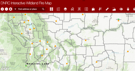 Spokane Wildfire Map.Today S Air Montana Wildfire Smoke